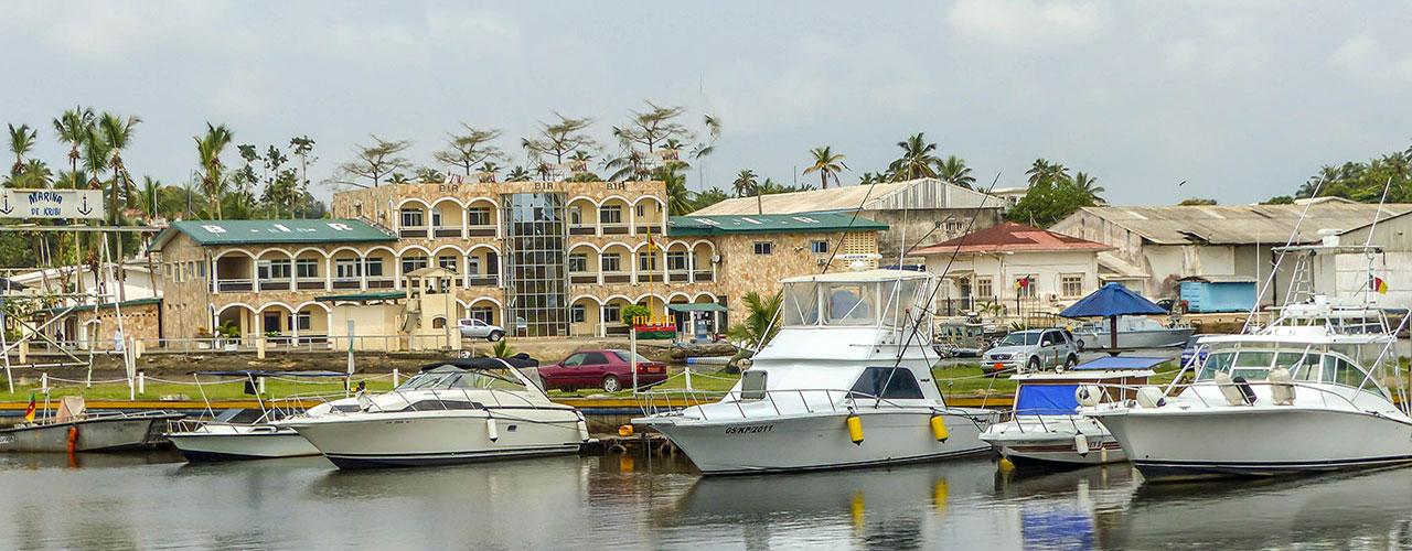 Ville de Kribi au Cameroun