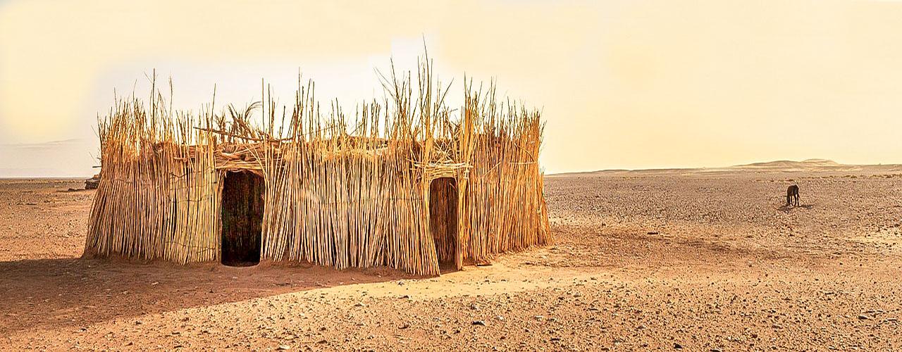 Une cabane dans le Nord du Cameroun